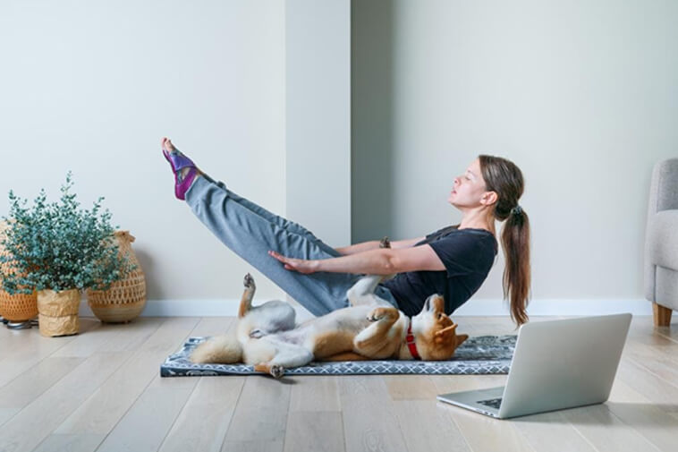 Fitness Routine for Losing Weight with Dog